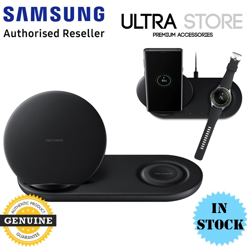 GENUINE Samsung Fast Qi Wireless Charger Pad Duo Galaxy