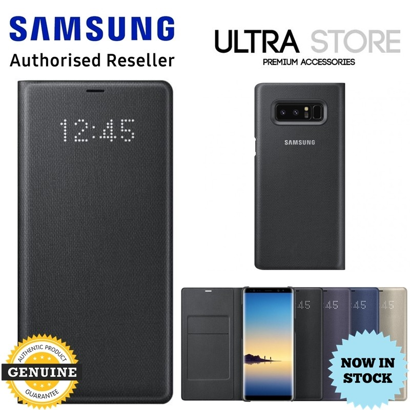 GENUINE Original Samsung Galaxy Note8 LED View Cover Wallet Card Pocket Case