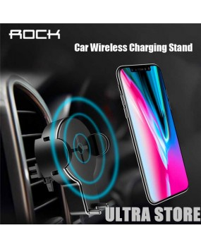 ROCK W2 Wireless Qi Charging Phone Holder Car Mount iPhone X 8 Samsung Note8 S8+