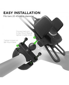 Genuine Easy One Touch 4 Bike Bar Mount Universal Phone Holder iPhone Samsung
