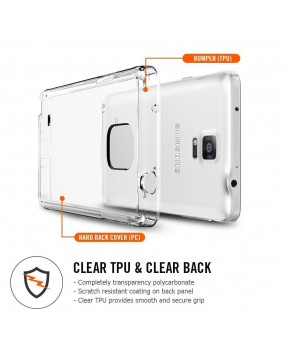 Genuine Spigen Ultra Hybrid Case Cover for Samsung Galaxy Note 4 - Crystal Clear