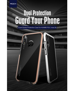 ROCK Guard Hybrid Drop Protection Dual Layer TPU Cover Case for Huawei P20