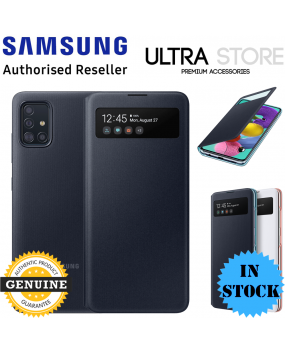 GENUINE Original Samsung Galaxy A51 A71 S View Wallet Cover Card Slot Flip Case