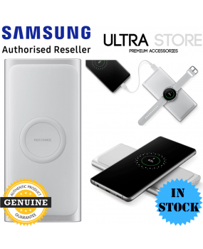 Genuine Samsung Fast Qi Wireless Charger Battery Pack Power Bank USB C 10000 mAh