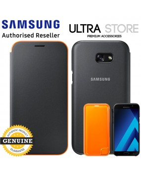 GENUINE Original Samsung Galaxy A7 2017 Neon Flip Cover Edge Notification Case