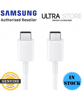 Genuine Original Samsung 1m 100W USB Type-C to Type-C Cable Cord Adapter - White