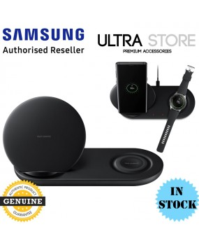 GENUINE Samsung Fast Qi Wireless Charger Pad Duo Galaxy Note 9 S9 Gear S3 Watch
