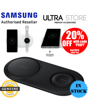 Genuine Samsung Fast Qi Wireless Charger Duo Pad Galaxy S10+ S10 S9 Note 9 Watch