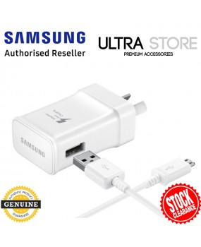 GENUINE Original Samsung Micro USB Travel Wall Adaptive Fast Charging AC Adapter