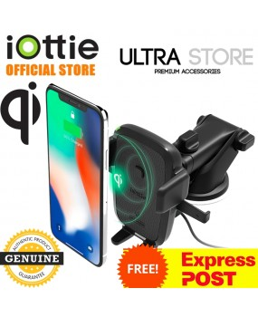 iOttie Easy One Touch Wireless Qi Fast Charging Dash Windshield Car Mount Holder