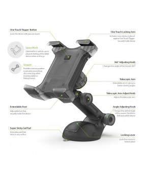 iOttie Easy Smart Tap 2 Universal Car Mount Holder Dock Apple iPad Samsung Tab