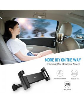 ROCK Universal Car Headrest Mount Phone Tablet Holder Cradle iPad iPhone Samsung
