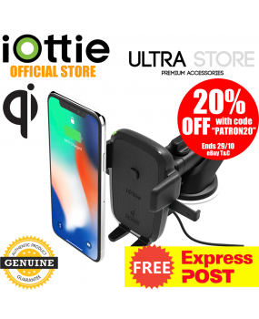 iOttie Easy One Touch 4 Wireless Qi Fast Charge Dash Windshield Car Mount Holder