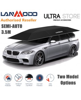 LANMODO 3.5m Semi-Auto Car Tent Awning Roof Top Cover Pull-Out Shade Umbrella