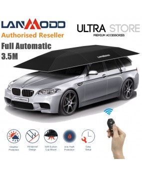LANMODO 3.5m Automatic Remote Control Car Tent Awning Roof Cover Shade Umbrella