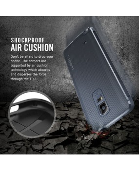 Genuine Spigen Capsule TPU Shockproof Case Cover for Samsung Galaxy Note 4