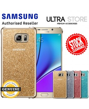 GENUINE Original Samsung Galaxy Note 5 / S6 Edge Plus Slim Glitter Cover Case