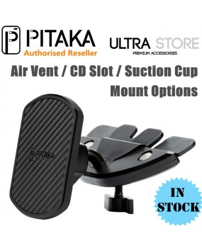 PITAKA Universal Magnetic Air Vent/CD Slot/Suction Car Mount Phone Holder Dock
