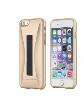 ROCK Ninja Hybrid Build in Lightning Charge Cable Protective Case Cover for iPhone 6 6s