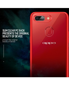 Rock Clarity Hybrid Shockproof Drop Protection Hard Clear Cover Case Oppo R15