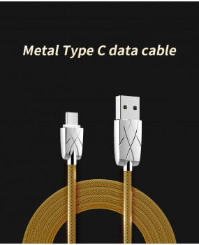 ROCK 1m USB-C Type-C Data Sync Fast Charging Metal Cable for Samsung Note 9 S9 S8