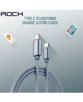 ROCK C6 100cm USB-C Type C to Lightning Cable Adapter Apple iPhone Macbook iPad