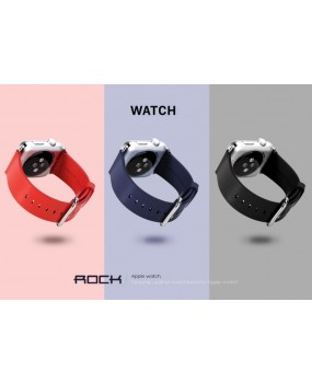 ROCK Leather Top Layer Cowhide Watch Band Straps for Apple Watch 38mm / 42mm