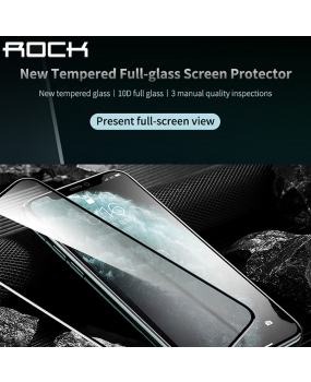 ROCK 0.3mm Full Covered Tempered Glass Screen Protector iPhone Xs Max 11 Pro Max