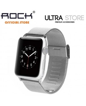ROCK Stainless Steel Mesh Metal Watch Band Straps for Apple Watch 38mm / 42mm