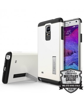 Genuine Spigen Slim Armor Kickstand Heavy Duty Military Grade Protection Shockproof Case Cover for Samsung Galaxy Note 4