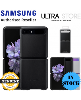 GENUINE Original Samsung Galaxy Z Flip Leather Cover Slim Back 2 Piece Case